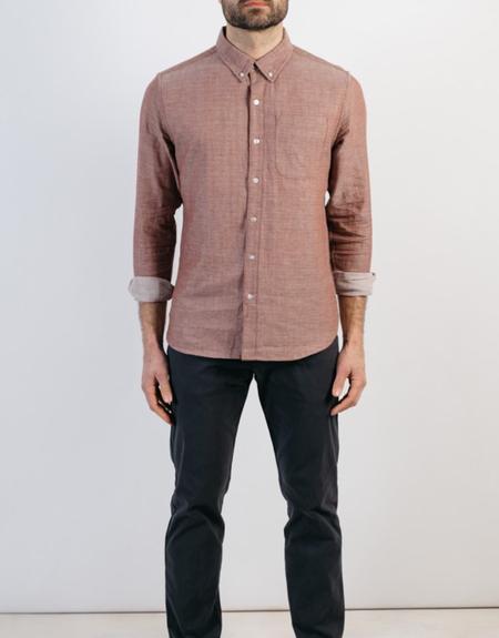 Bridge & Burn Sutton Copper Doublecloth Button Up Shirt