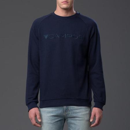 """Carlos Campos """"CAMPOS"""" Navy Logo Sweatshirt"""