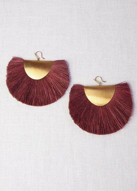Hazel Cox Arkansas Fan Earrings