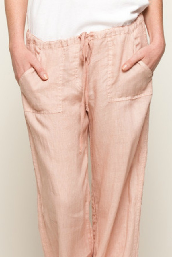Stewart and Brown Drawstring Linen Pant
