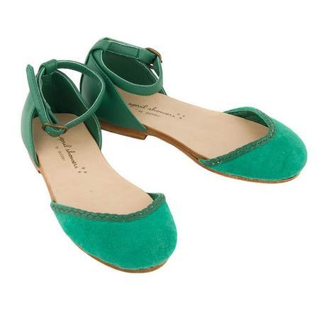 Kids April Showers Nancy Shoes - Green