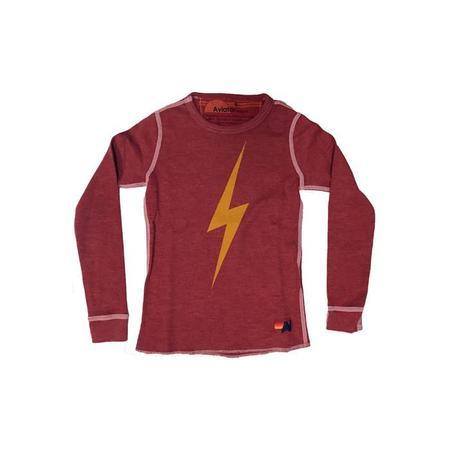 Kids Aviator Nation Bolt Thermal Tshirt - Red