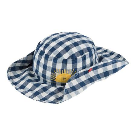 Kids Bobo Choses Hat - Blue check with Sun
