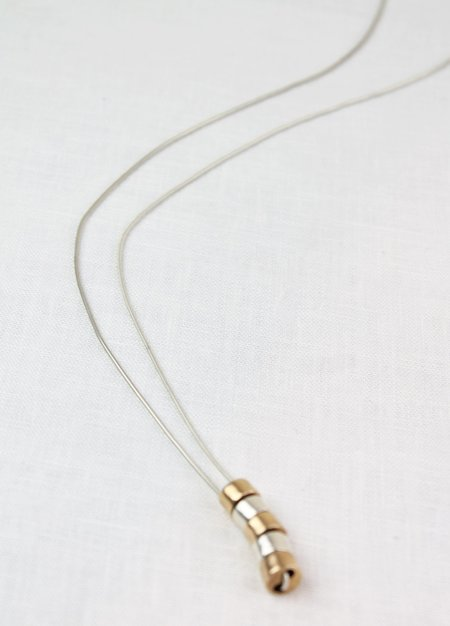 Mikinora Stacked Cylinder Necklace