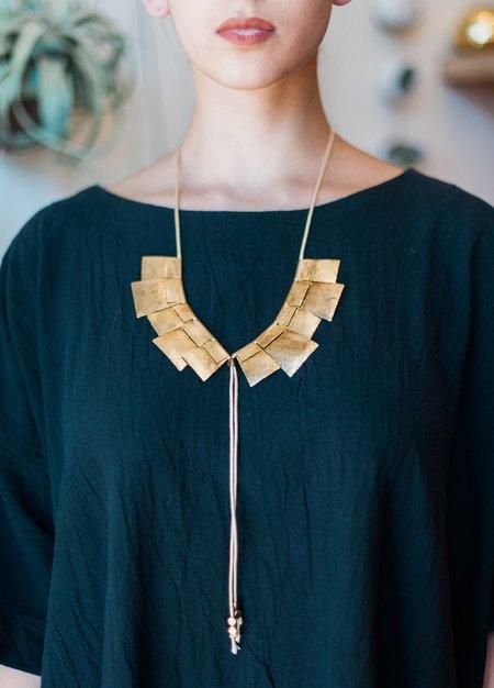 Saint Clair Chelsea Necklace - Brass
