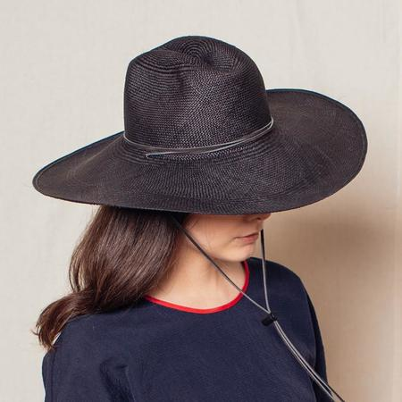 Brookes Boswell Hats Boro Panama Straw - Black