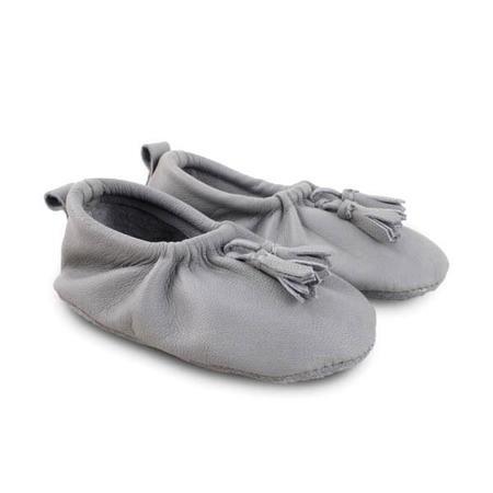 Kids Donsje Lucca Leather Shoe - Grey