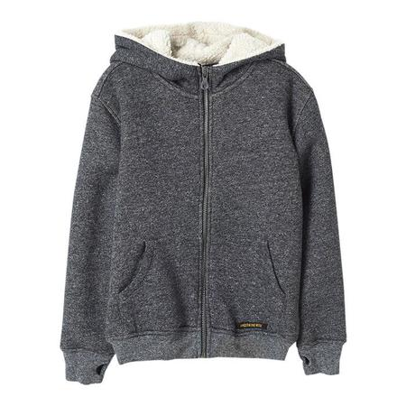 Kids Finger In The Nose Hooper Zipped Knitted Hoody - Heather Coal