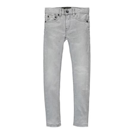 Unisex Kids Finger In The Nose Icon 5 Pocket Slim Fit Jeans - Bleached Grey