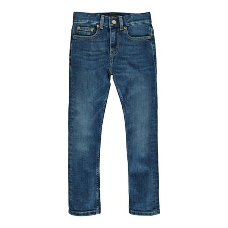 Kids Finger in the Nose New Norton Woven 5 Pocket Straight Fit Jeans - Dirty Blue