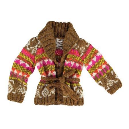 Kids HBB Industria Argentina Manta Cardigan - Caramel/Pink