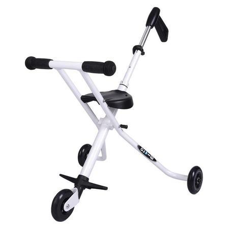 Kids Kickboard Micro Trike Super Compact Stroller - White