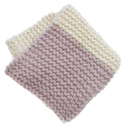 Kids Loopy Mango Her Baby Blanket - Polar Bear/Rose Petal