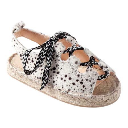KIDS Maison Mangostan Guava Calf Hair Sandal - Dalmatian Print