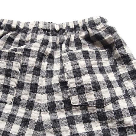 Kids Makié Cotton Pants Perry - Black Gingham