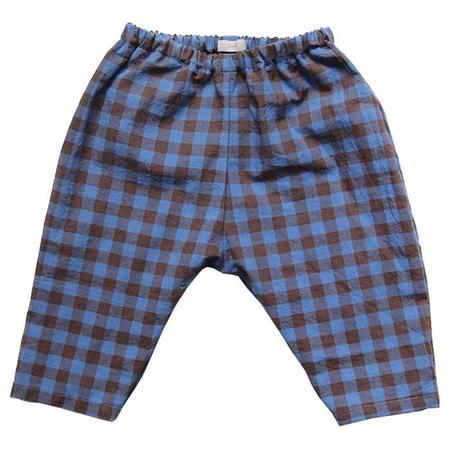 Kids Makié Dustin Pants - Blue/Brown Check