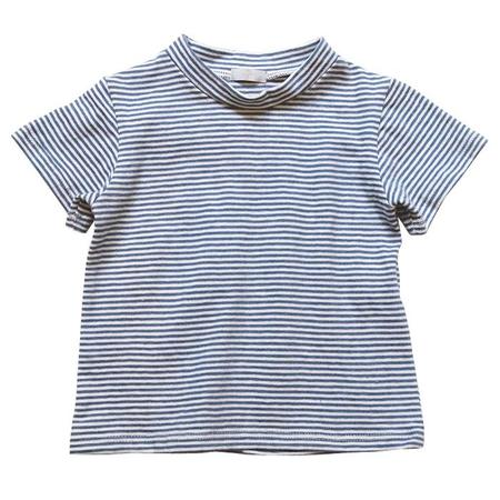Kids Makié Sam Short Sleeved Tshirt - Blue Stripe