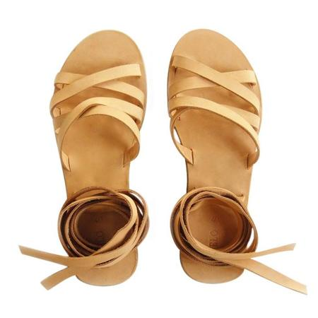 Meyelo Onika Wrap Sandal - Natural