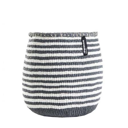 Mifuko Kiondo Basket - Stripe Grey