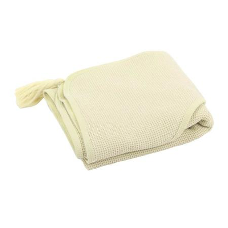 KIDS Moutmout Paris Sybel Bee Honeycomb Hooded Towel - Post Yellow