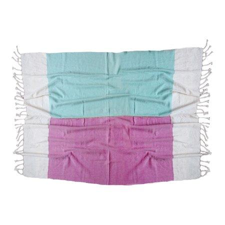 Nico Nico Topanga Colour Block Blanket - Mint