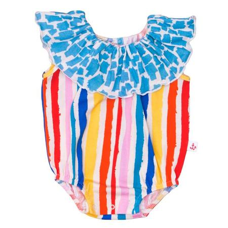 Kids Noe & Zoe Baby Collar Romper - Multi Kulti