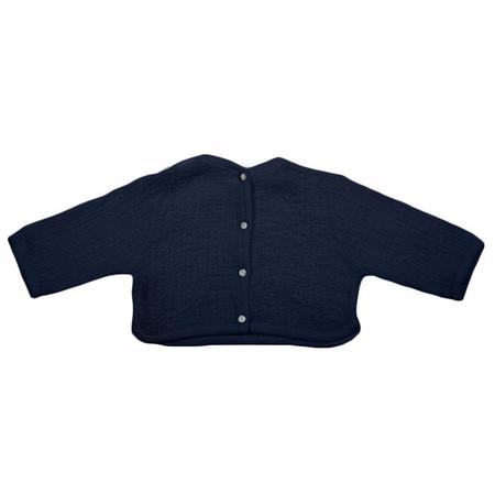 Kids Pequeno Tocon Blouse with Buttons Down Back - Navy