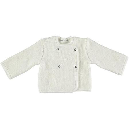 Kids Pequeno Tocon Double Breasted Fleece Jacket - Cream