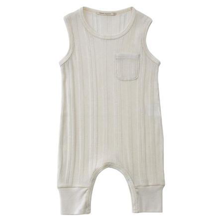 Kids Tane Organics One Pocket Overall  - Ecru White