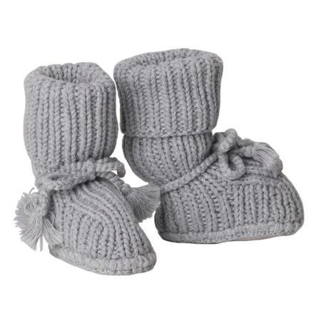 Kids Tane Organics Socks Booties with Ties - Graphite