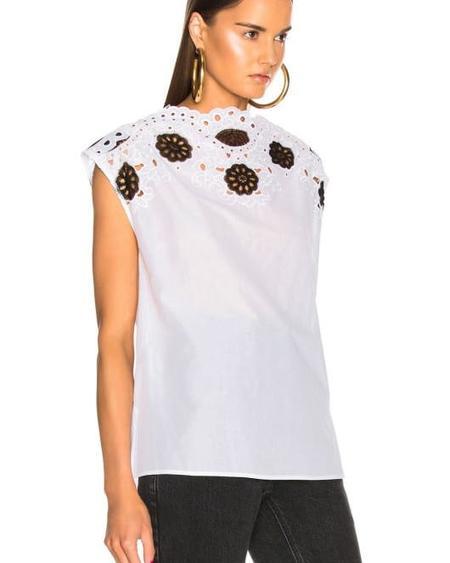 Rachel Comey GALLOW TOP - WHITE