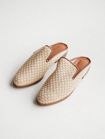 Robert Clergerie Alice Woven Raffia Slide