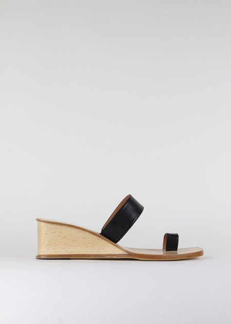 LOQ Cadiz wedge sandal - Black