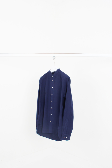 Document Garment Dyed Collarless Shirt