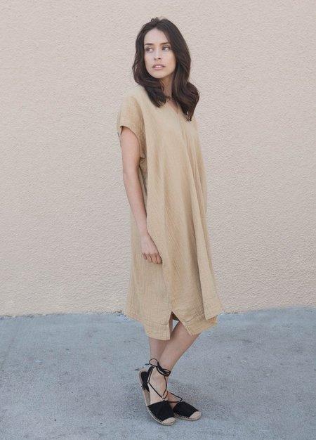 Atelier Delphine Crescent Dress - Tan