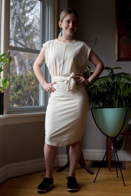 Eve Gravel Toi et Moi Dress - Cream