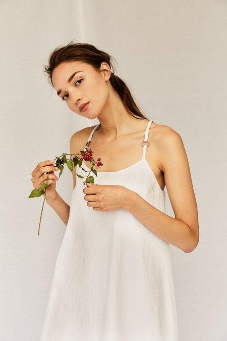 Devlyn Van Loon Slip Dress - White