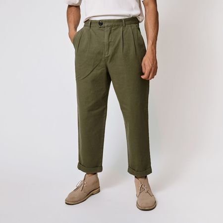 SUIT SUITAINABLE LAB Dr Tate pants - DUST GREEN