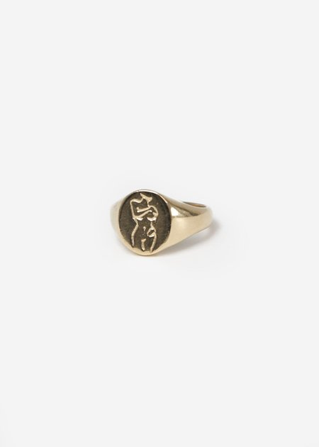 Wolf Circus Femme Signet Ring
