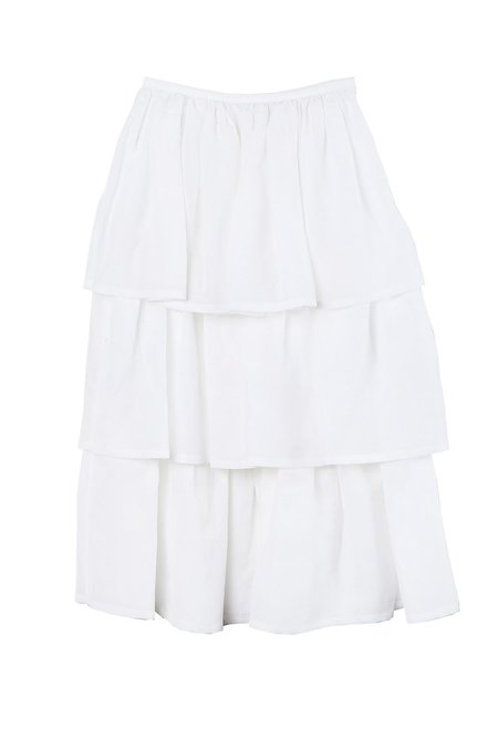 Maryam Nassir Zadeh La Terra Tiered Skirt