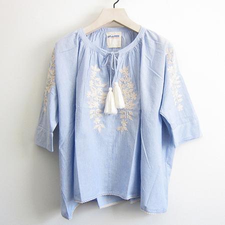 Gallabia Calypso Shirt - Blue/Ivory