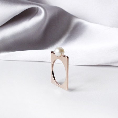 Metalepsis Projects Renata Ring - 14k rose gold plated