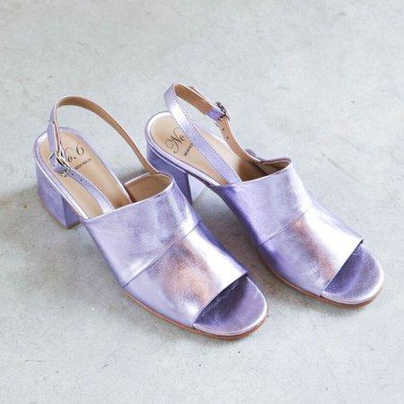 No.6 Layla Covered Heel - Violet Metallic