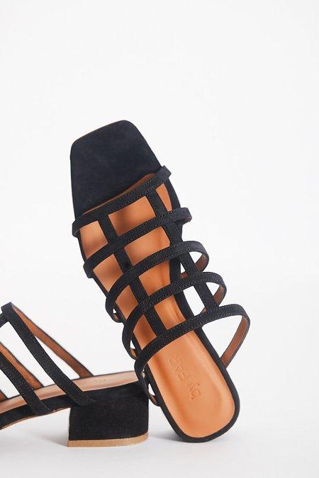 By Far Grid Sandal - Black