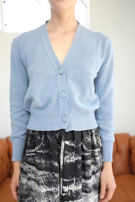 Beklina Cotton Knit Cardigan - Light Denim