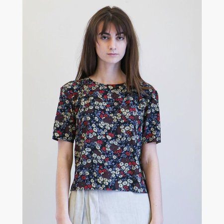 No.6 Isla Pleated Top - Large Cherry London Floral