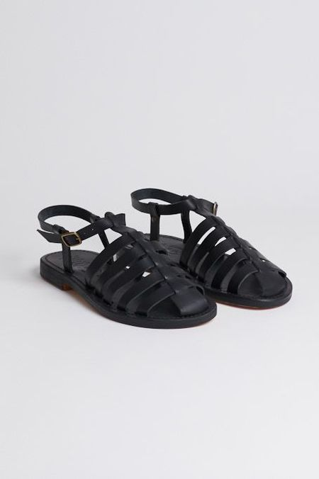 La Botte Gardiane Fisherman Sandals - black