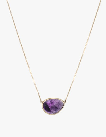 Kathryn Bentley Amethyst Slice Necklace