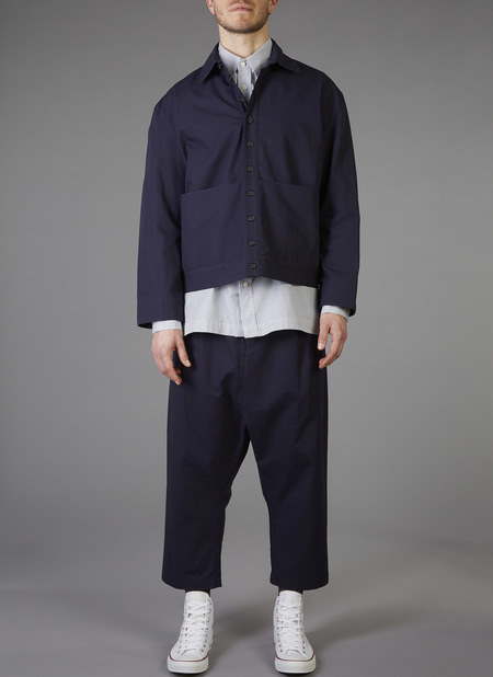 GREI Cropped Shorty Jacket - Midnight Blue Ripstop