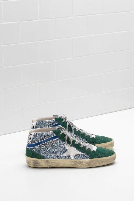 Golden Goose Mid Star Sneaker - Green Glitter